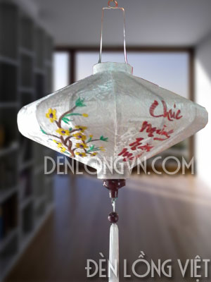 đèn lồng đĩa bay chúc mừng năm mới 2 Phân biệt thêu và vẽ đèn lồng hội an