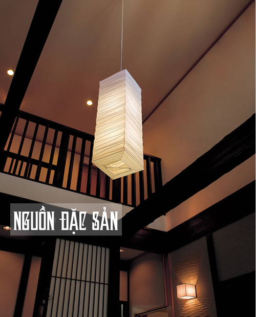 Đèn lồng vuông sóng ngang kiểu Nhật