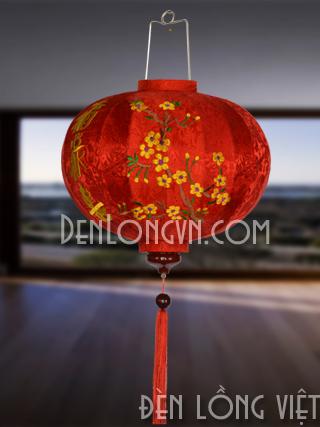 DLT019 Đèn lồng Hội An thêu họa tiết và in logo theo yêu cầu
