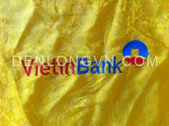 LOGO VIETINBANK Đèn lồng Hội An thêu họa tiết và in logo theo yêu cầu