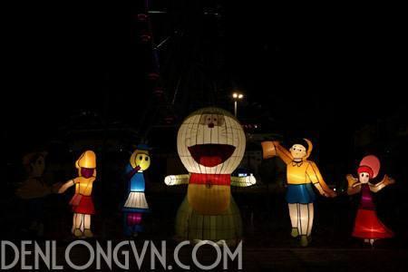 ao dieu den long trang tri 5 Ảo diệu đèn lồng trang trí đường phố