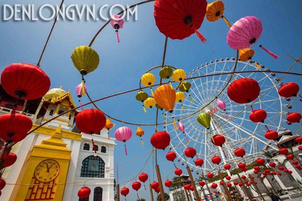 con duong den long dai nhat viet nam 1 Con đường đèn lồng dài nhất Việt Nam