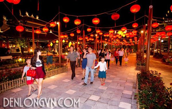 con duong den long dai nhat viet nam Con đường đèn lồng dài nhất Việt Nam