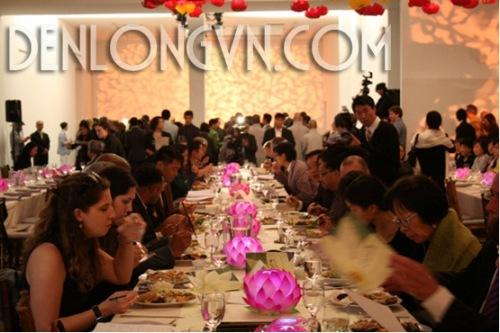 den hoa sen trang tri nha hang chay Đèn hoa sen trang trí nhà hàng chay