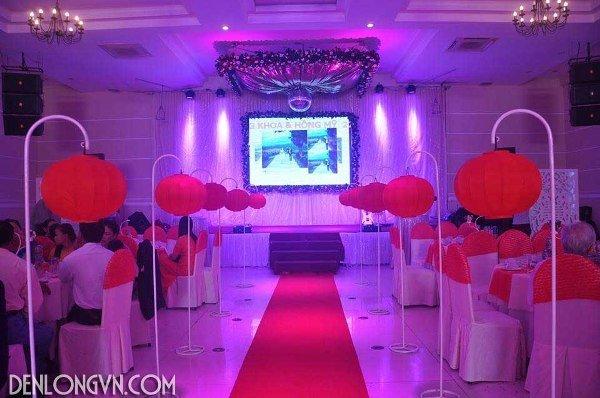 den long trang tri nha hang tiec cuoi Đèn lồng trang trí nhà hàng tiệc cưới