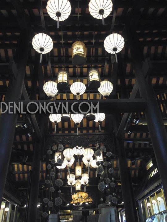 den long trang tri Đèn lồng tết rực rỡ không gian Việt