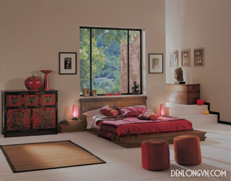 den trang tri khong gian phong ngu Đèn lồng trang trí phòng ngủ