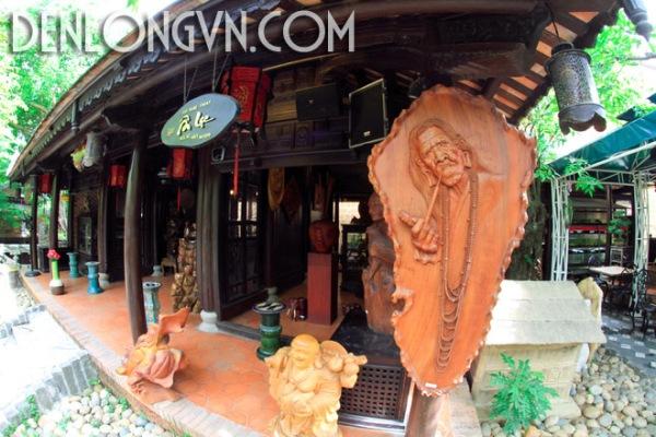 denlonggotrangtri 2 Đèn lồng gỗ trang trí quán cà phê