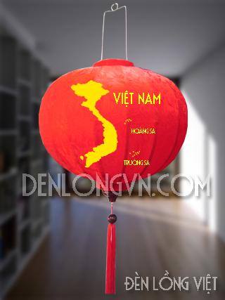 Đèn lồng in bản đồ Việt Nam