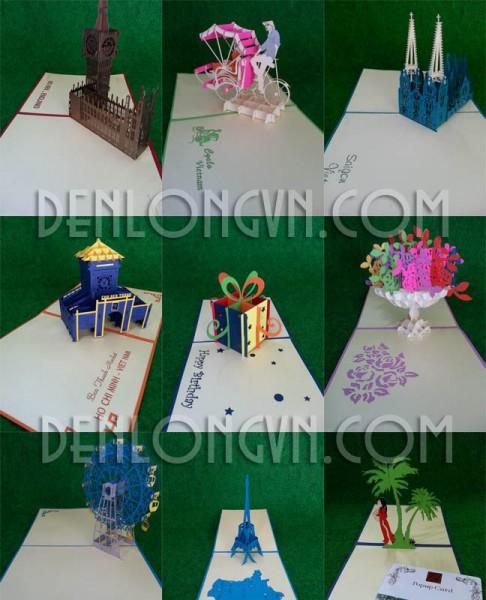 thiep 2D3D popup card 2D3D