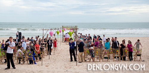 tttcnt 1 Trang trí tiệc cưới ngoài trời với Đèn lồng Việt