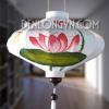 Đèn lồng đĩa bay vẽ hoa sen