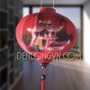 Đèn lồng đỏ vẽ tranh chùa một cột