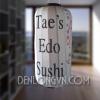 Đèn kiểu Nhật trang trí quán Sushi