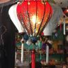 Đèn lồng vải hoa mẫu 9