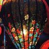 Đèn lồng vải hoa mẫu 1