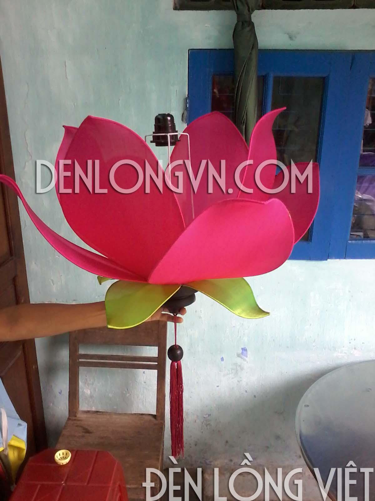 đèn lồng hoa sen trang trí chùa chiền2