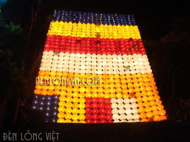 đèn lồng theo màu cờ phật giáo 2