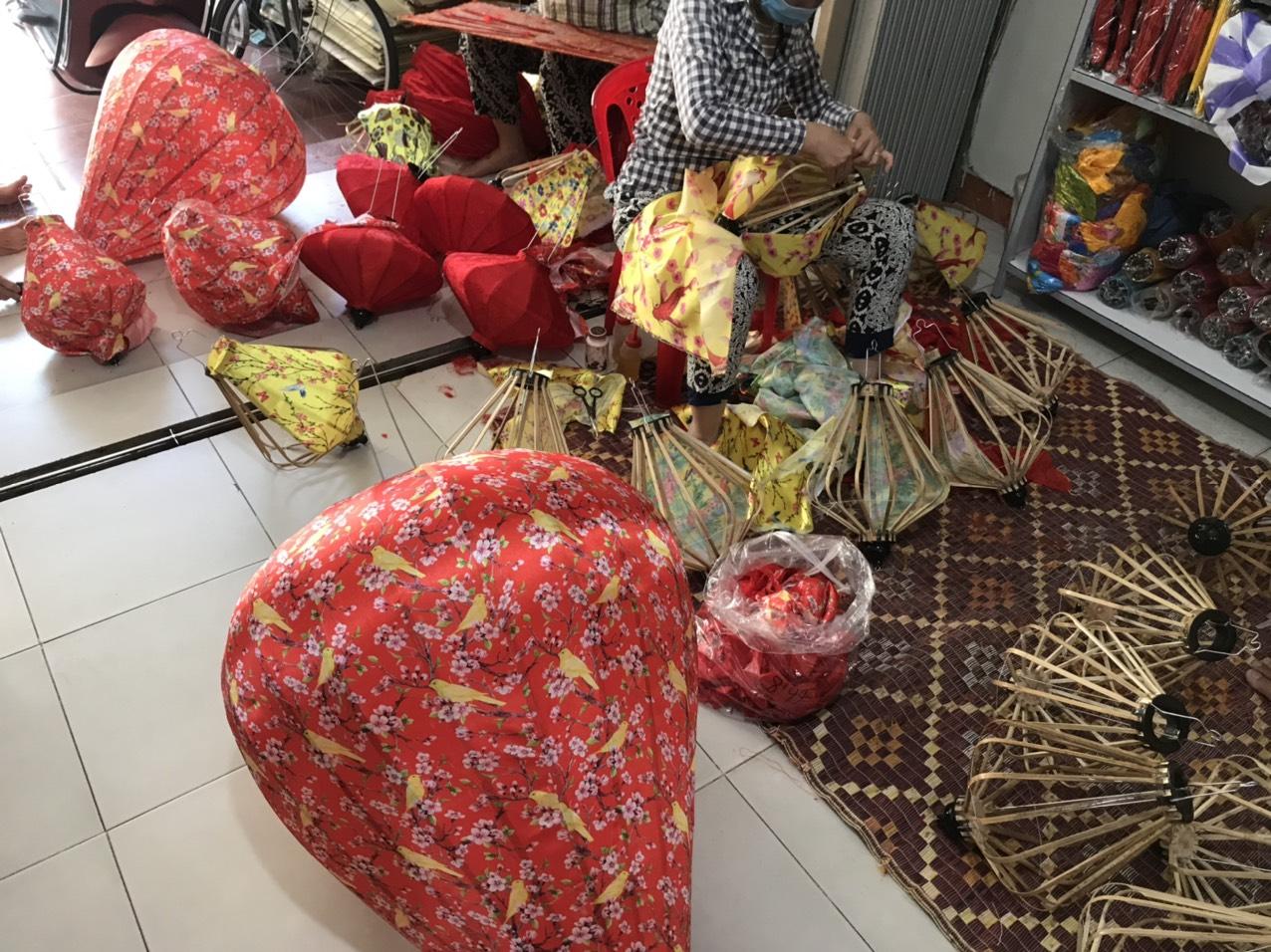 Đèn lồng vải phi hoa Xuất đi Thái Lan
