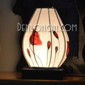 Đèn bàn trang trí họa tiết hoa bèo