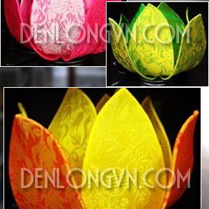 Đèn hoa sen để bàn vải kiểu DHS002