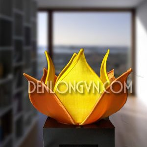 Đèn hoa sen để bàn hai màu DHS010