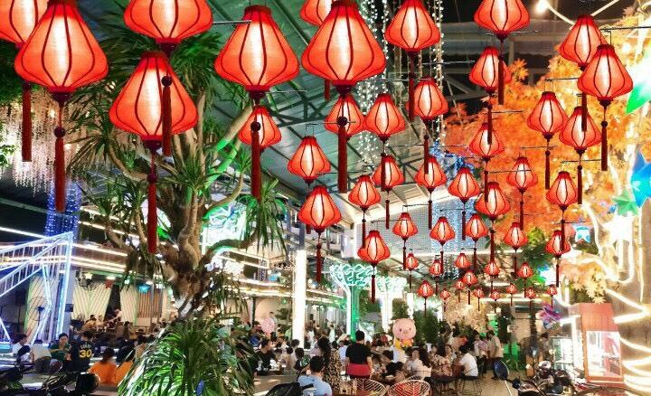 Mẫu đèn lồng Việt trang trí trung thu