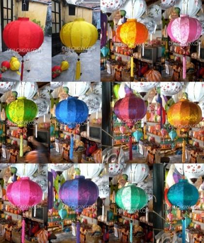 Đèn lồng Hội An đa dạng màu sắc