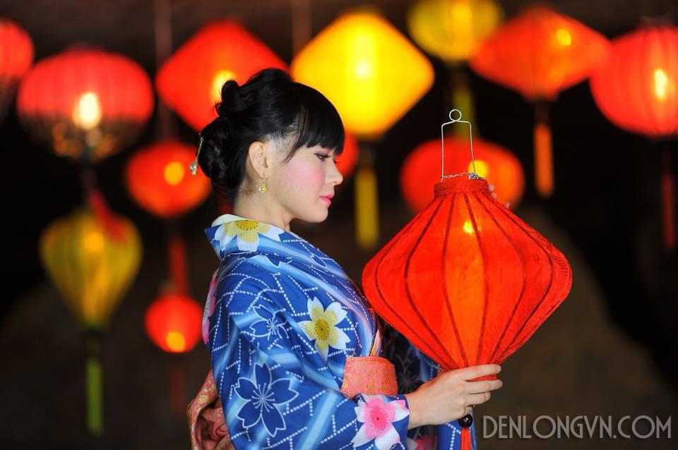 Đèn lồng lụa Hội An truyền thống Xuất đi Nhật