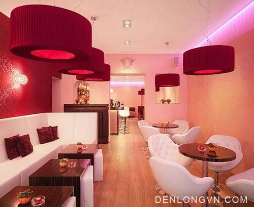 trang trí không gian quán cà phê theo phong cách hiện đại