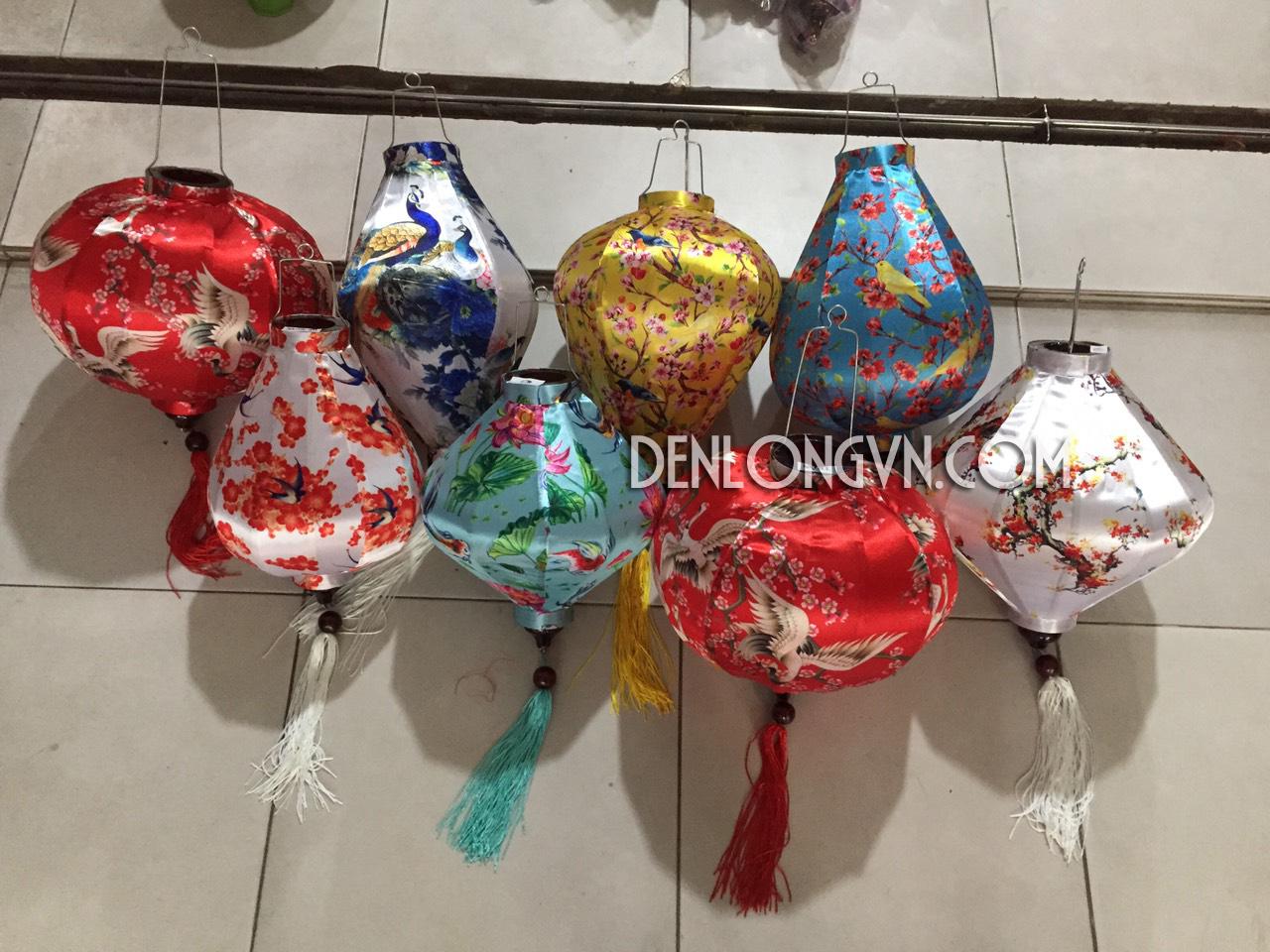 Đèn lồng vải hoa | Đèn lồng Việt