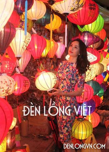 Hoa hậu Ngọc Diễm bên đèn lồng Hội An