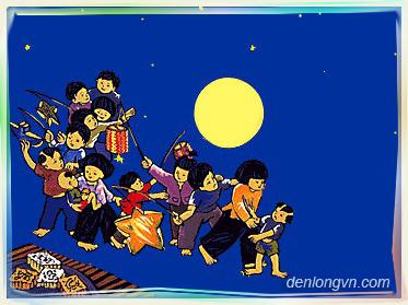 Trẻ em rước đèn mùa Trung thu