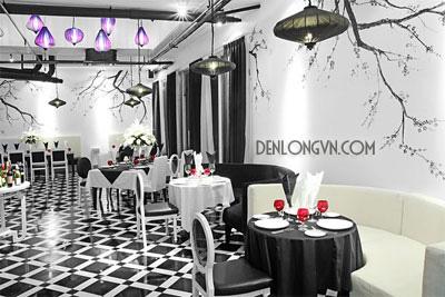 Một nhà hàng với thiết kế rất hiện đại, cá tính với gam màu lạnh